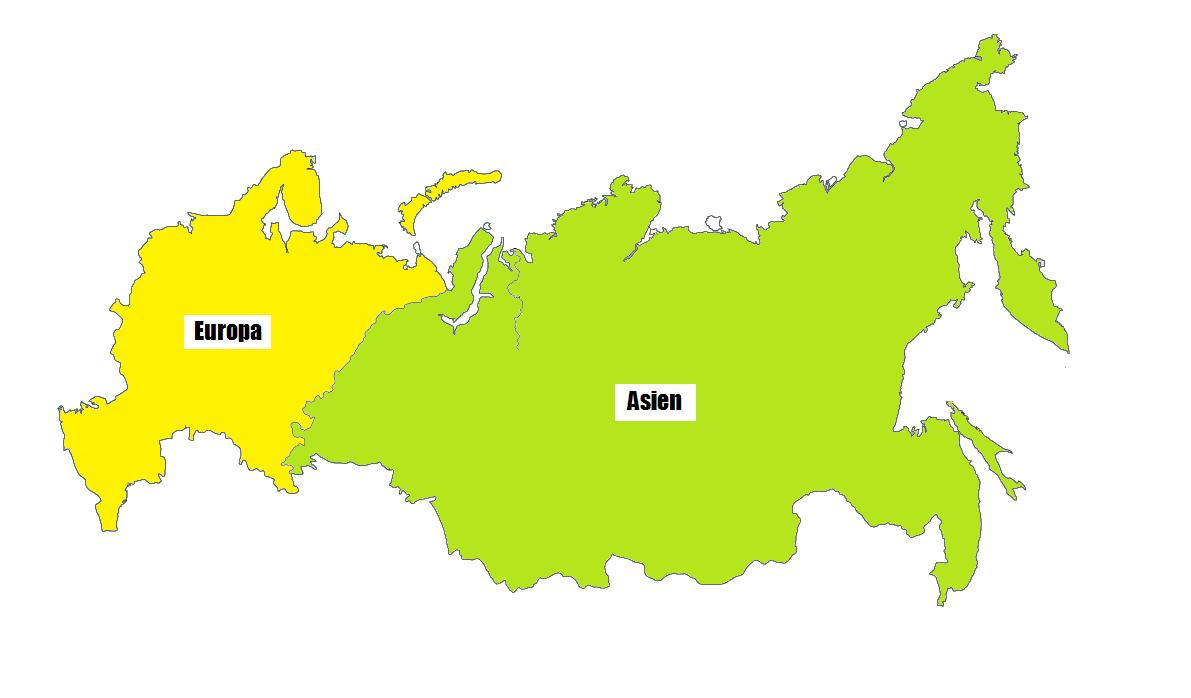 Zu welchem Kontinent gehört Russland - offene Seite